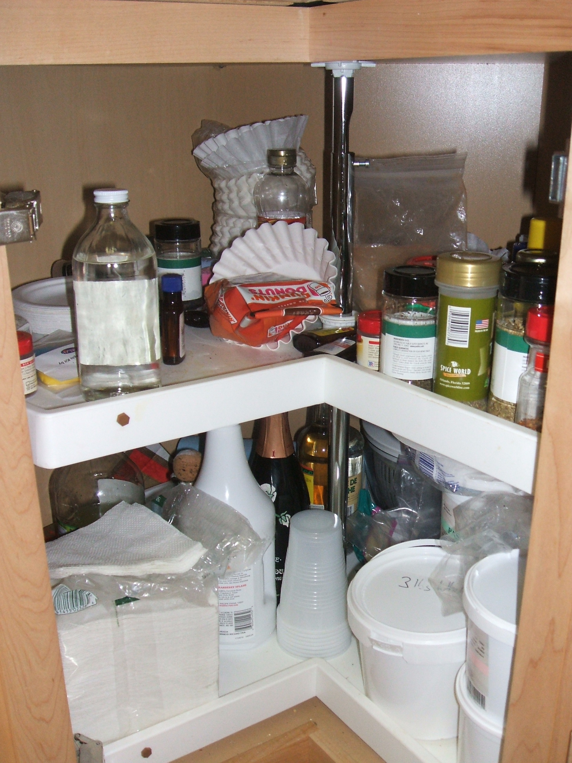 Lazy Susan Before - Yuck!
