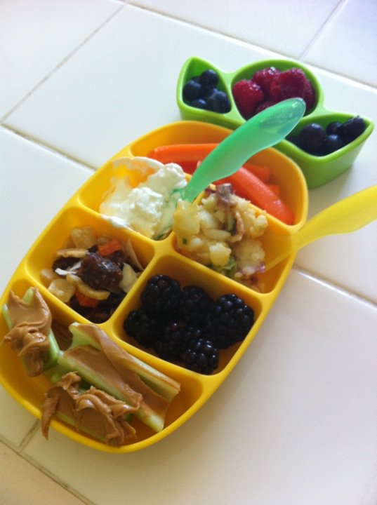 our filled nibble tray