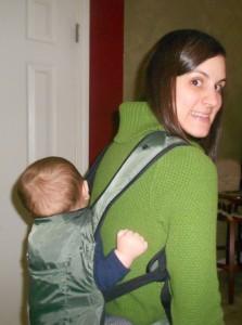 Ergo Stowaway Travel Carrier - Jude, 6 months old