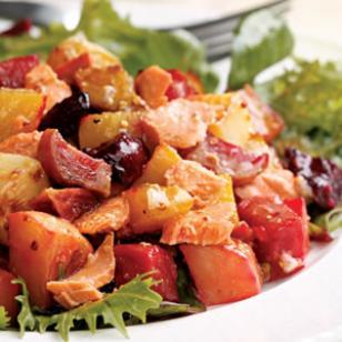 salmon roasted vegetable salad